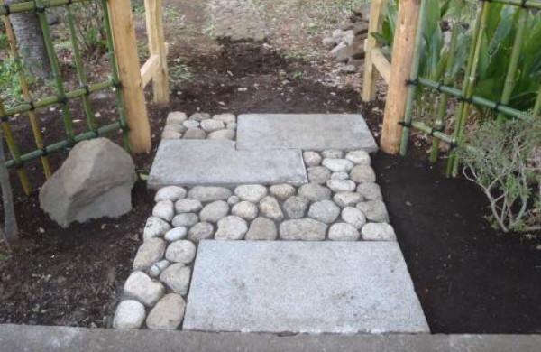 nobedan, allée pavée japonaise, granit, pierres naturelles, jardin japonais