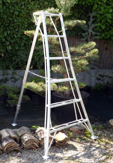 echelle japonaise trois pieds, taille japonaise, aluminium, jardins japonais, culture du niwaki