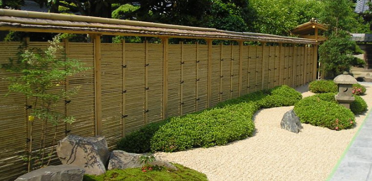 palissades japonaises en bambou création stage jardins japonais