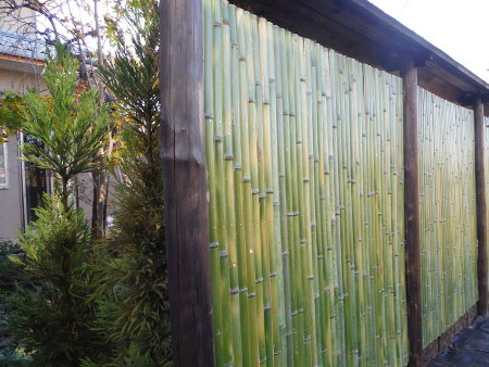 jardins japonais palissades bambou take-gaki